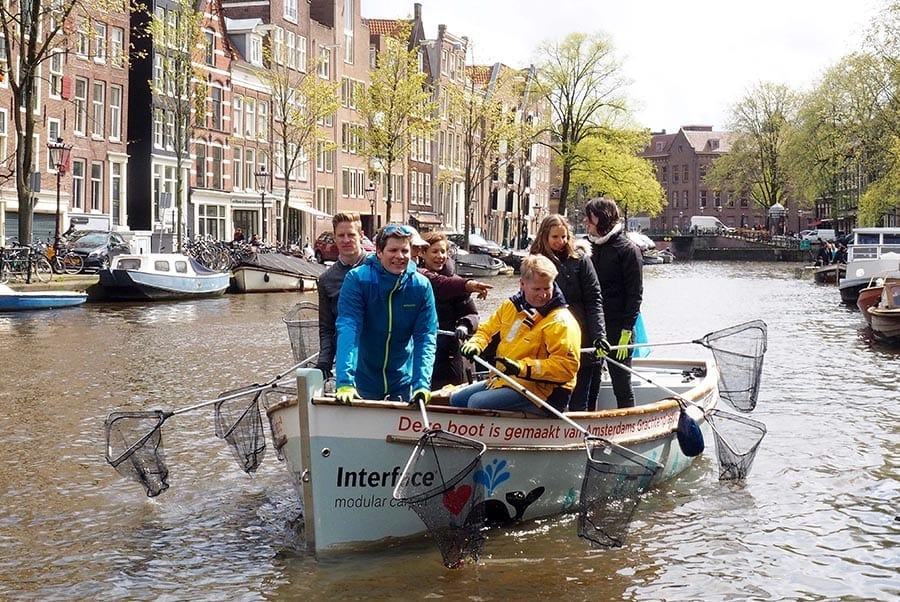 Building boats from plastic litter – to 'fish' for more waste!