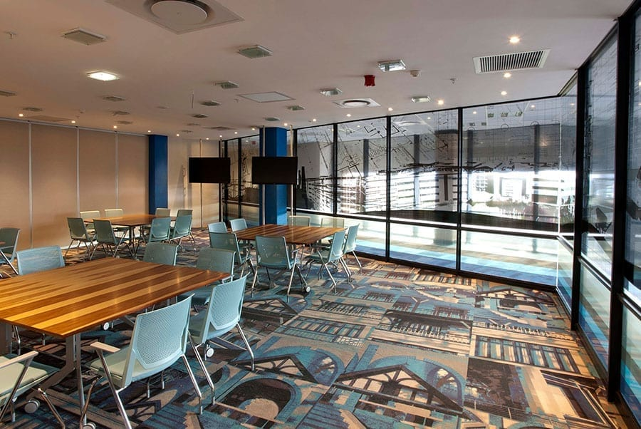 Images of the 'Grand Lady of Parktown' form part of the unique flooring supplied by KBAC Flooring