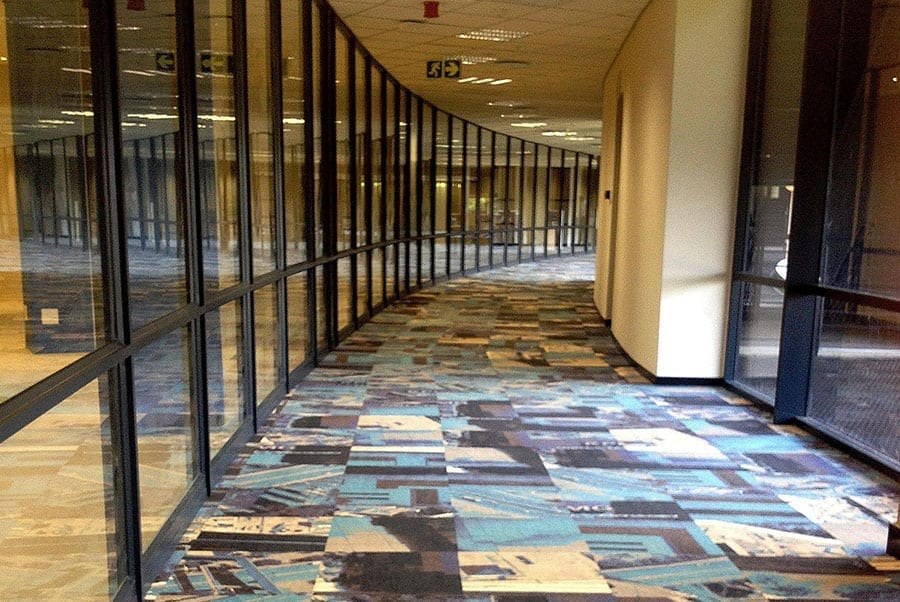 "Ege carpets in a curved walkway in 'Wanooka 2"". (Picture: Stuart Cloete)."