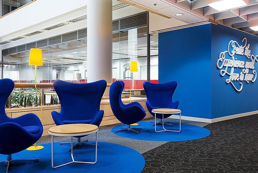 Flooring reflects 'energetic dot-com image' of property company